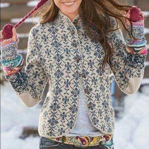 Sundance Fair Isle Cardigan Sweater Wool Sz XL